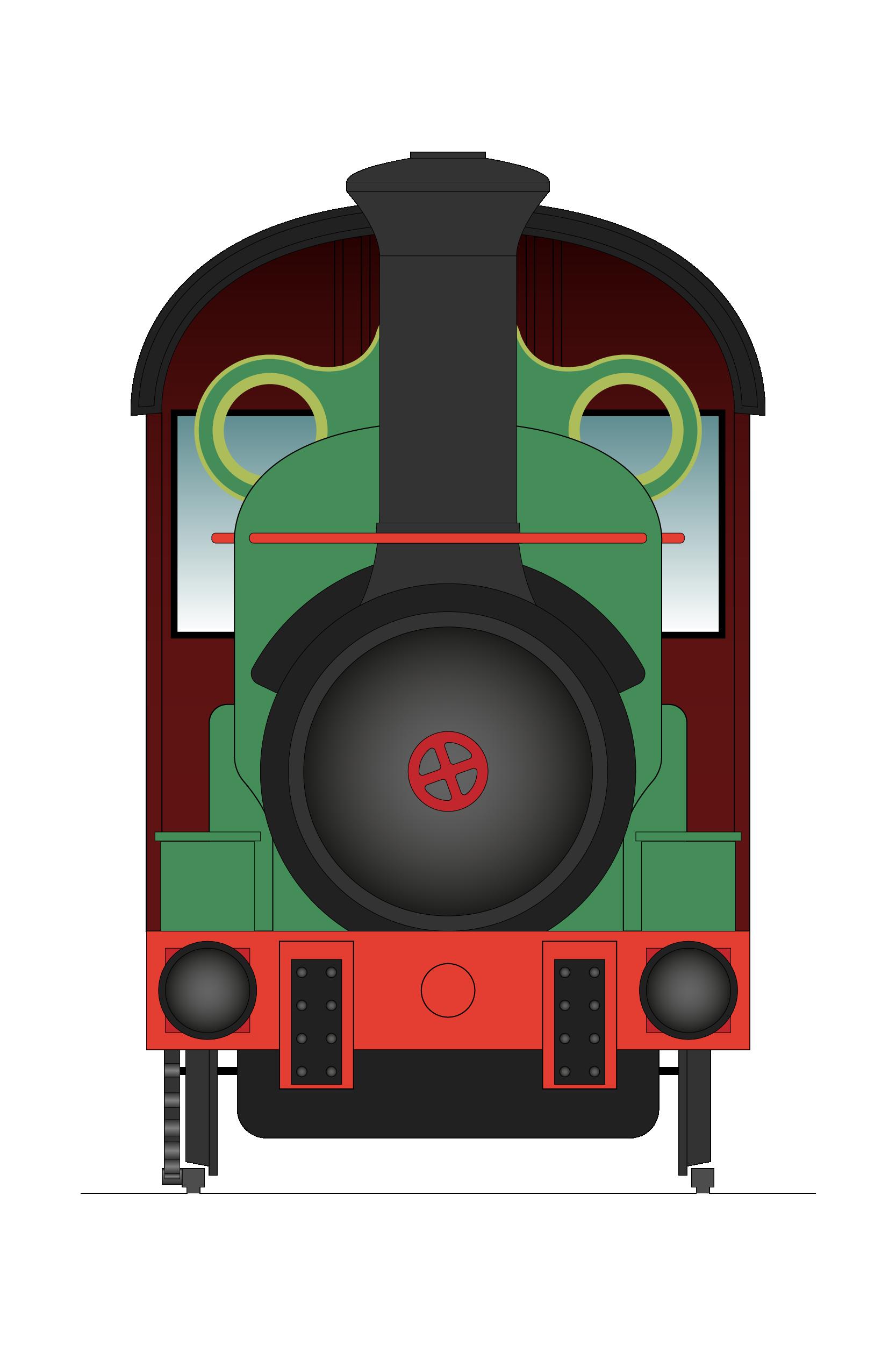 Illustration rack railway
