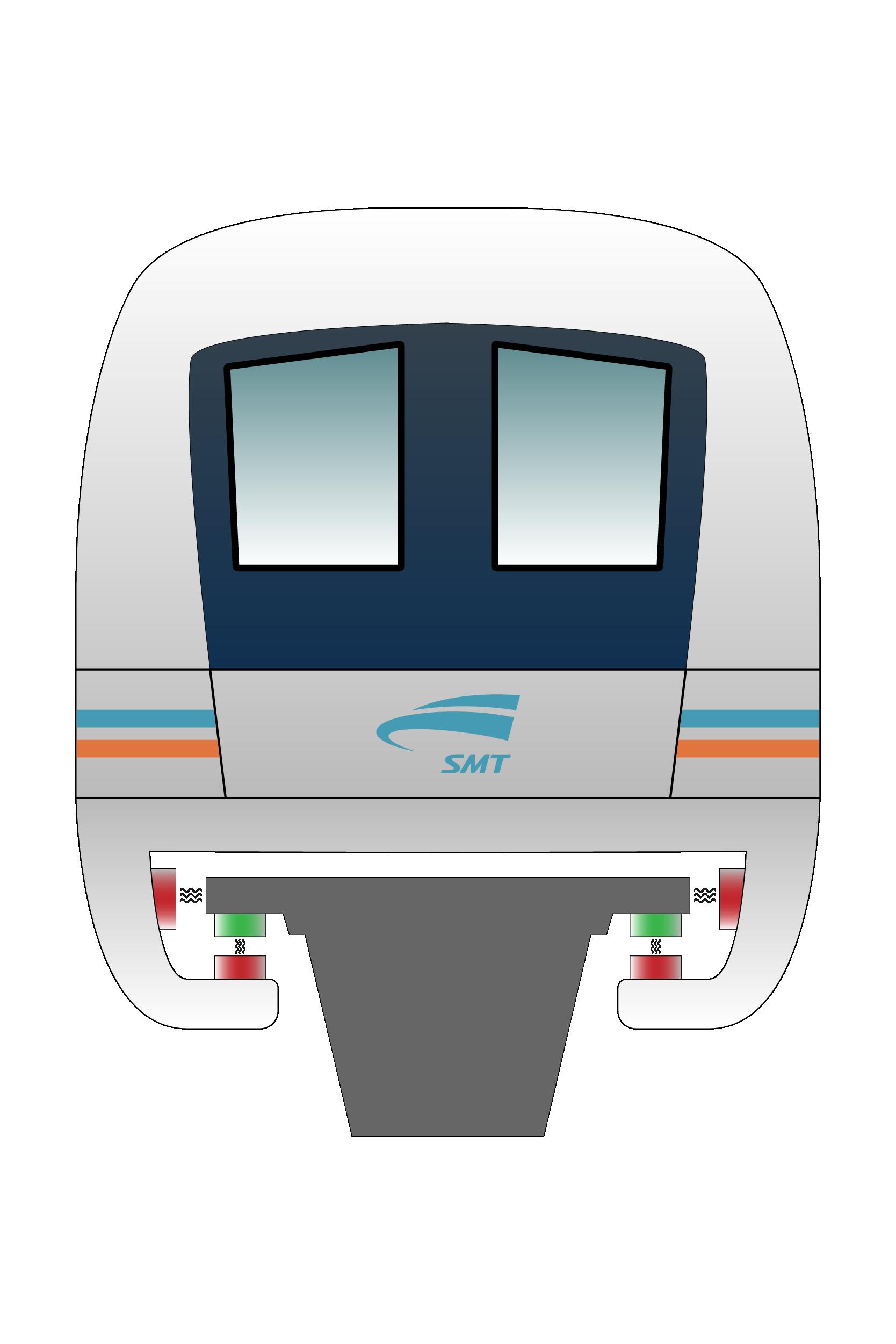 Illustration magnetic levitaiton train