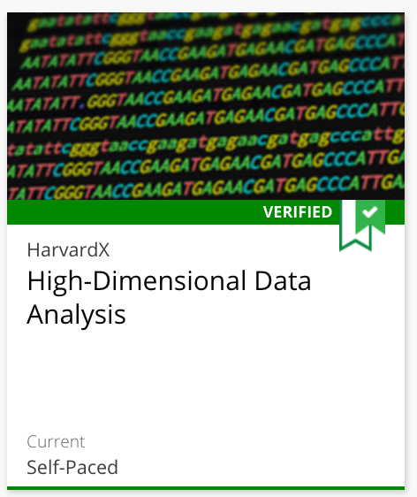 Data Analysis for Life Sciences 4: High-Dimensional Data Analysis