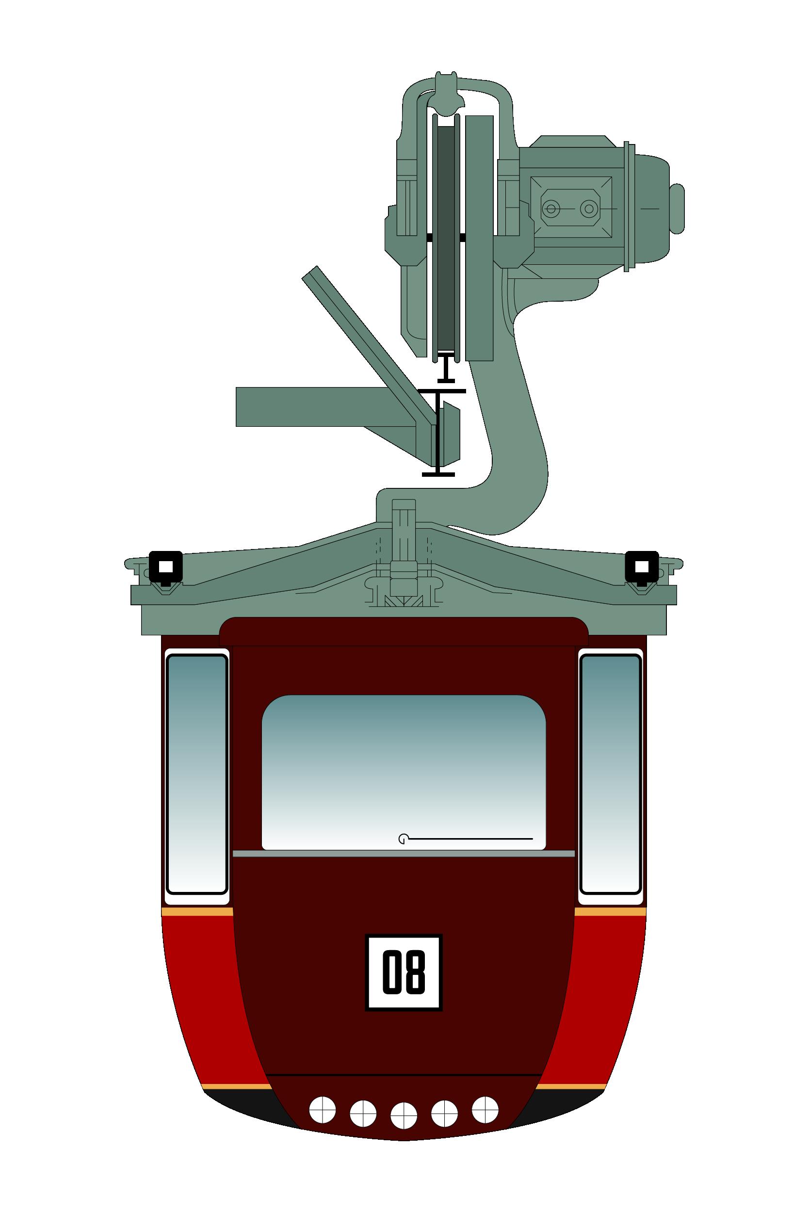 Illustration Schwebebahn monorail