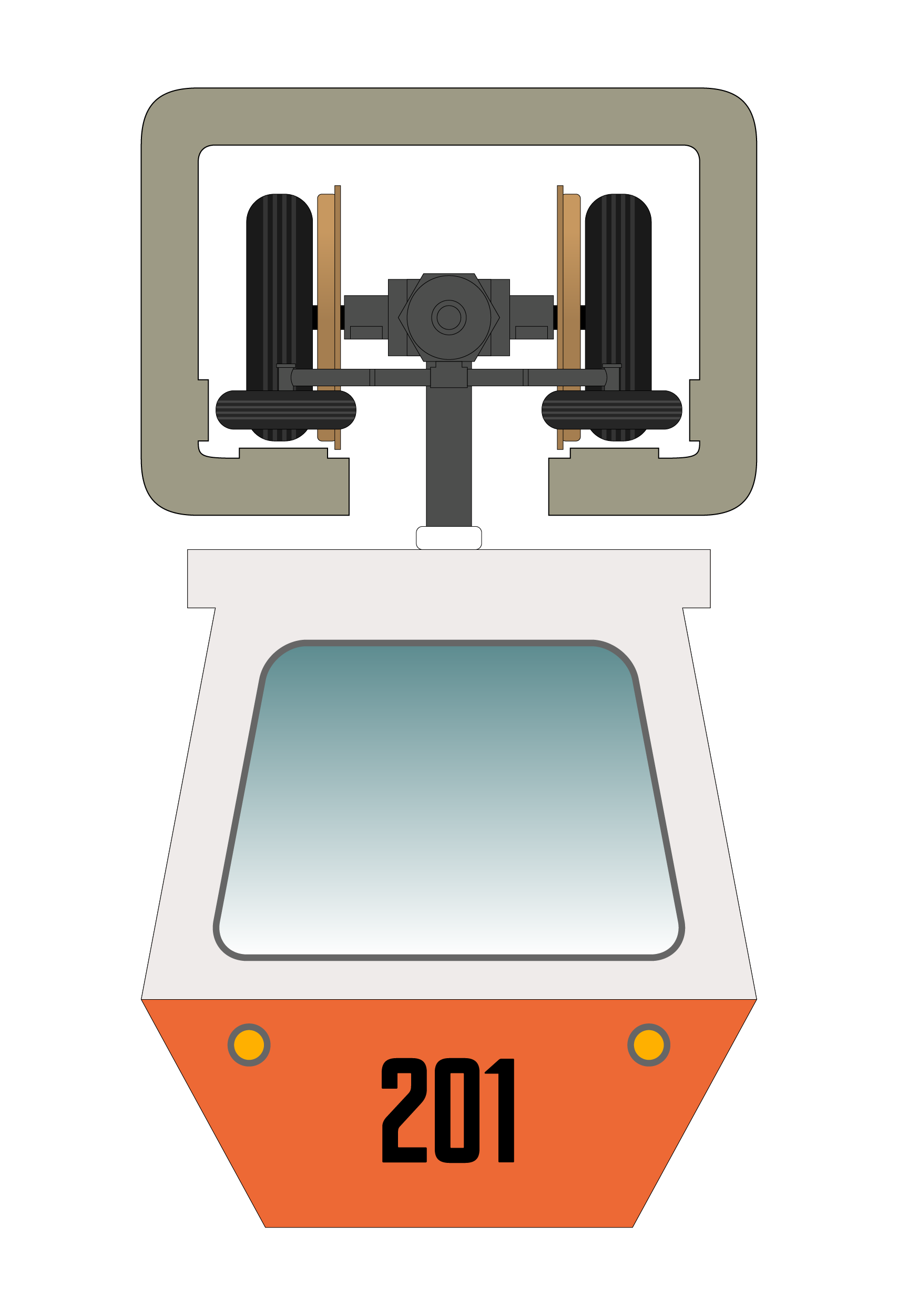 Illustration suspension monorail