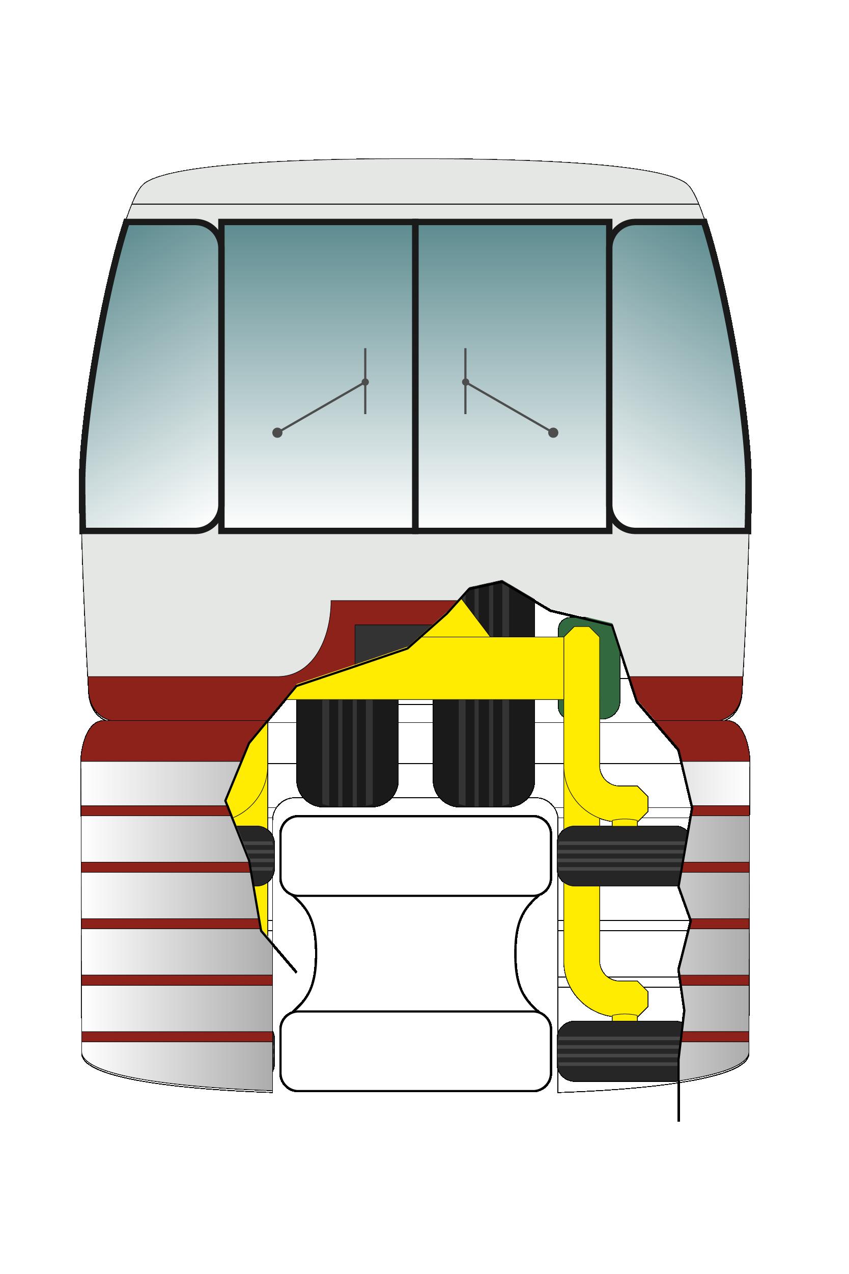 Illustration straddle monorail