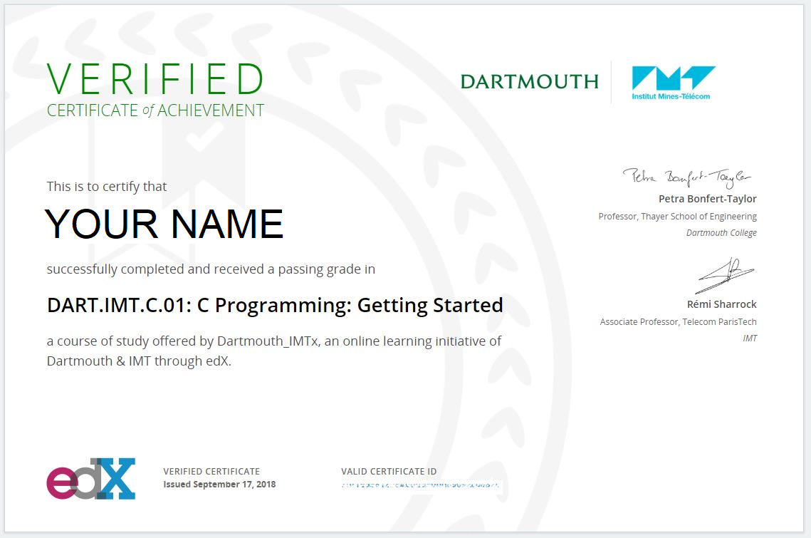 dart certificate edx imt verified dartmouth professional imtx does programming asset courses v1 course