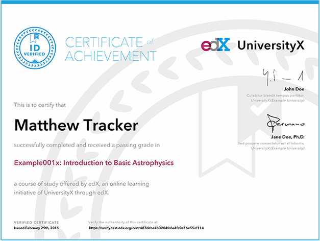 certificat et micromasters
